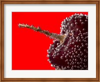 Framed Cherry Covered In Water Drops II