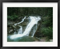 Framed Glacier National Park Waterfall 7