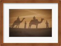 Framed Camels In Desert Silhouette