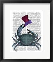 The Dandy Crab Framed Print