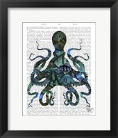 Framed Fishy Blue Octopus
