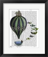 Framed Hot Air Balloon and Birds