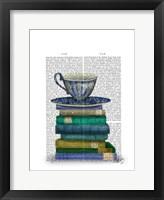 Framed Teacup and Books