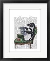Framed Penguin Reading Newspaper
