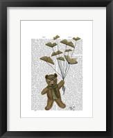 Framed Bear with Book Butterflies