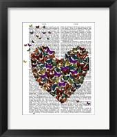 Butterfly Heart Framed Print