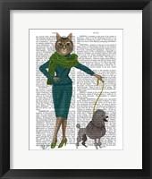 Cat and Poodle Framed Print