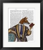 Book Reader Fox Framed Print