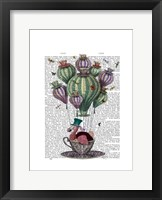 Dodo in Teacup with Dragonflies Framed Print