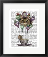 Cheshire Cat Hot Air Balloon Framed Print