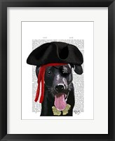 Framed Black Labrador Pirate