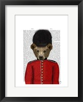 Guardsman Bear Framed Print