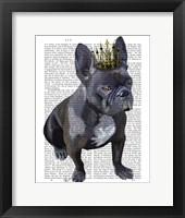 Framed French Bulldog King