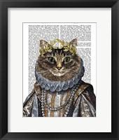 Cat Queen Framed Print