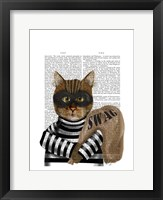 Cat Burglar Framed Print