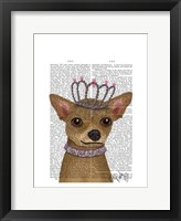 Chihuahua And Tiara Framed Print