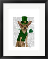 Chihuahua Leprechaun Framed Print