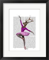 Ballet Deer in Pink I Framed Print
