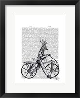 Framed Dandy Deer on Vintage Bicycle