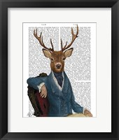 Distinguished Deer Portrait Framed Print