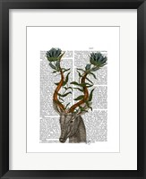 Blue Gazelle Framed Print