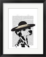 Dalmatian and Brimmed Black Hat Framed Print