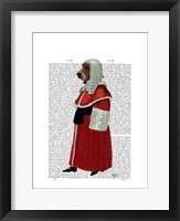 Framed Basset Hound Judge Full I