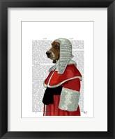 Framed Basset Hound Judge Portrait I