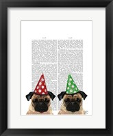 Party Pugs Pair Framed Print