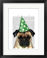 Party Pug Framed Print