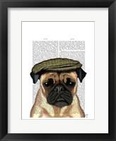 Framed Pug in Flat Cap