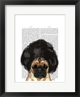 Framed Pug In A Bad Wig