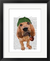Bloodhound Sherlock Holmes Framed Print