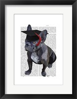 Graduation French Bulldog Framed Print