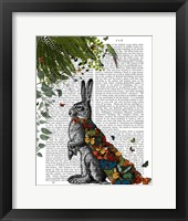 Framed Hare with Butterfly Cloak