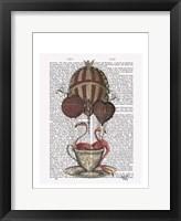 Flamingos in Teacup Framed Print
