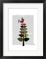 Tartan Tree Illustration Framed Print