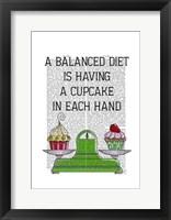 Framed Balanced Diet Illustration
