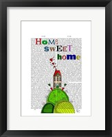 Framed Home Sweet Home Illustration