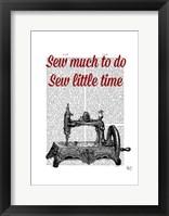 Sew Little Time Illustration Framed Print