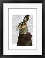 Madam Hare Portrait Framed Print