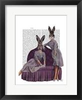 Rabbits in Purple Framed Print