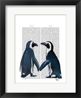 Framed Penguins in Love