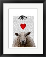 I Heart Ewe Framed Print