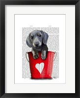 Buckets of Love Dachshund Puppy Framed Print