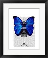 Mannequin Blue Butterfly Framed Print