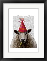 Party Sheep Framed Print