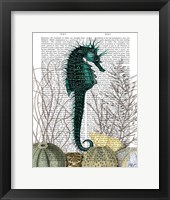 SeaHorse and Sea Urchins Framed Print