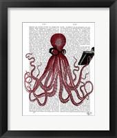 Intelligent Octopus Framed Print