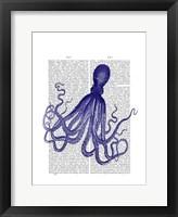 Blue Octopus 4 Framed Print